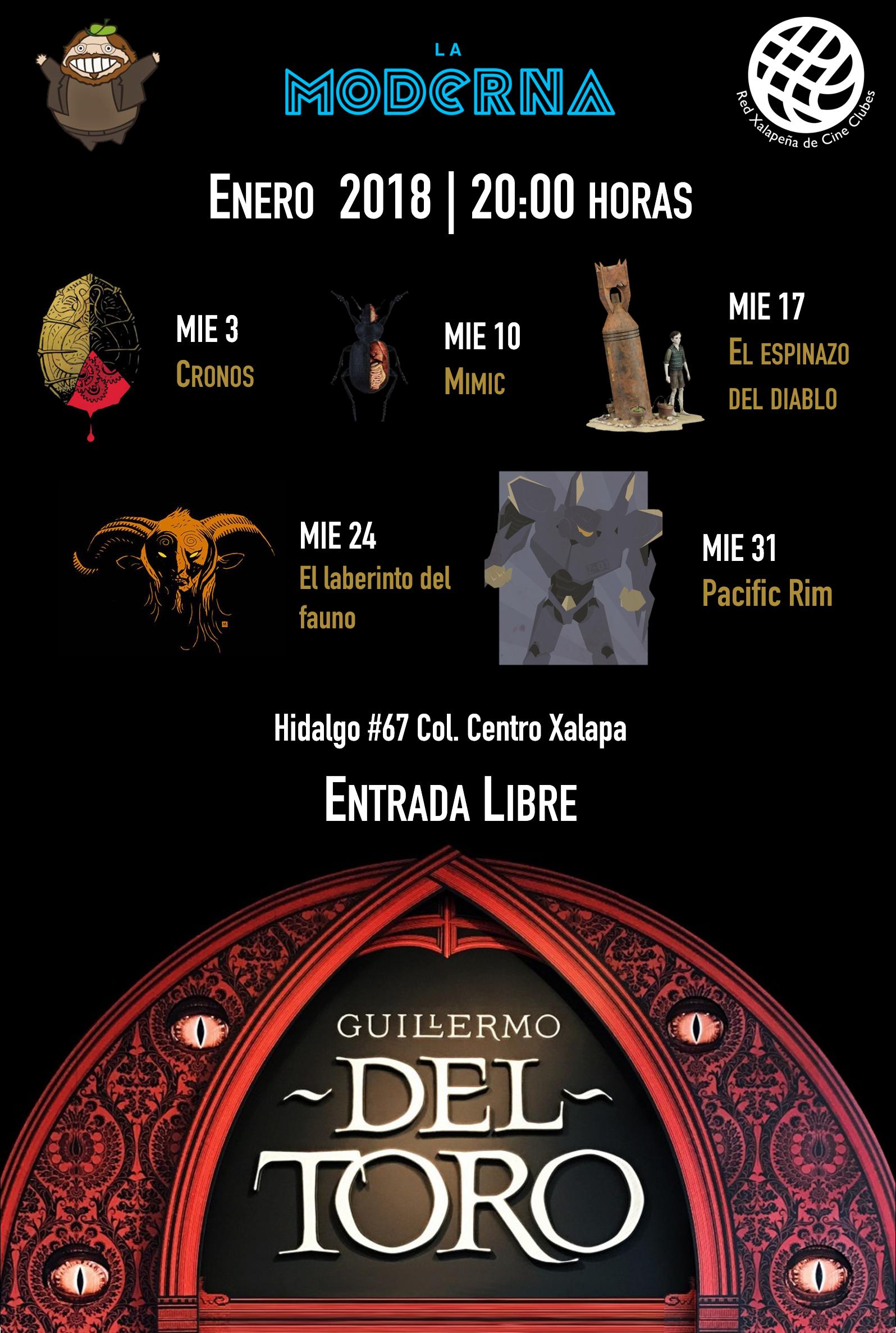 Retrospectiva a Guillermo del Toro en La Moderna @ Xalapa
